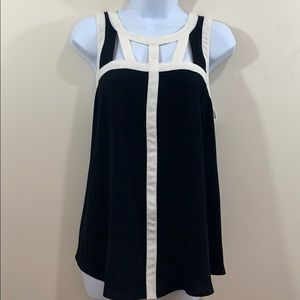 Candie's Sleeveless Chest Cut Out Shirt  Size L